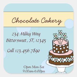 Chocolate cake large label