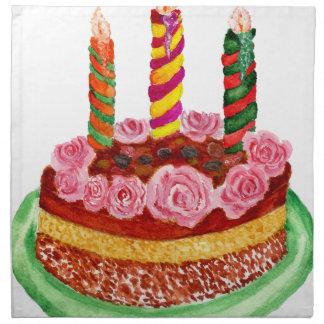 Chocolate Cake Napkin