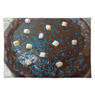 Chocolate cake placemat