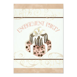 "Chocolate Cake Swirl Bridal Shower Invitation 5"" X 7"" Invitation Card"