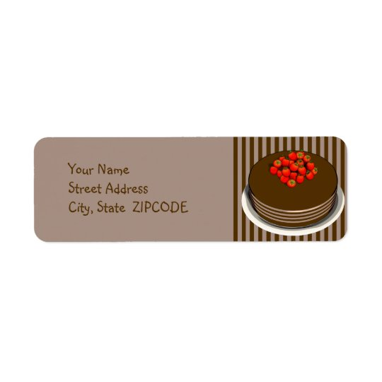 Chocolate Cake with Strawberries Address Labels