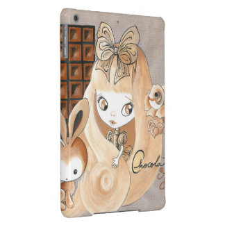 Chocolate Candy And Bunny And Girl iPad Air Cover