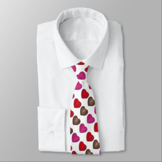 Chocolate Candy Heart Hearts Valentine's Day Tie