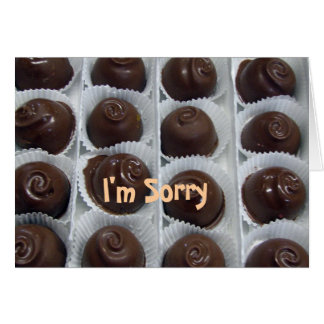 Chocolate Candy I'm Sorry Card