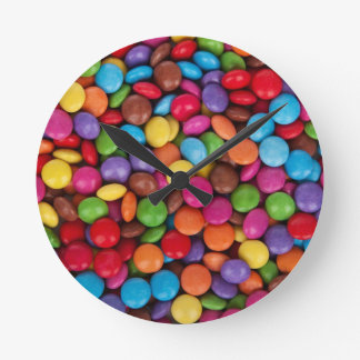 Chocolate Candy Sweets Round Clock