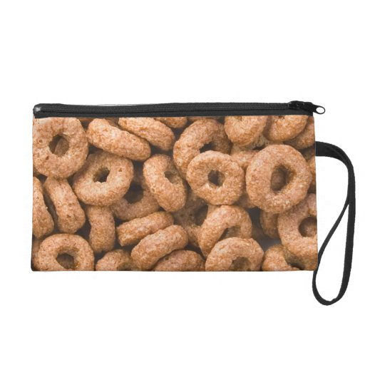 Chocolate cereal rings wristlet clutches