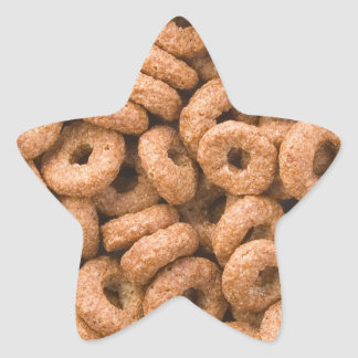 Chocolate cereal rings star stickers
