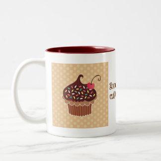 Chocolate & Cherry Cupcake Mug