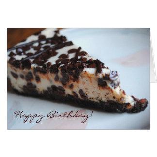 Chocolate Chip Cheese Cake Happy Birthday Card