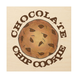 Chocolate Chip Cookie Baking Kitchen Food Bakery Wood Wall Decor