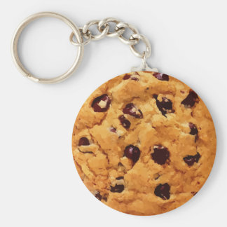 Chocolate Chip Cookie Basic Round Button Key Ring