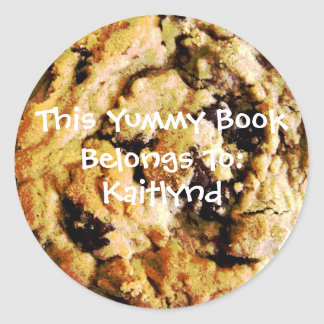 Chocolate Chip Cookie Book Label