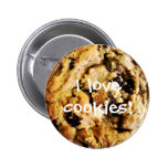 Chocolate Chip Cookie button Flair