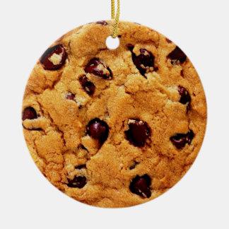 Chocolate Chip Cookie Round Ceramic Decoration