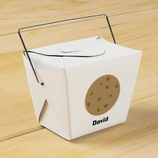 Chocolate Chip Cookie Favour Box
