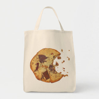 Chocolate Chip Cookie Grocery Tote Bag