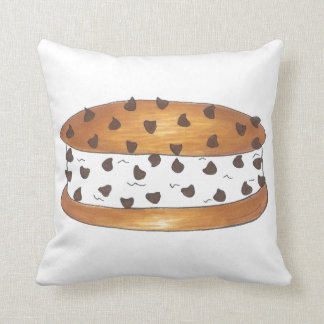 Chocolate Chip Cookie Ice Cream Sandwich Pillow