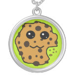 Chocolate chip cookie light green jewelry