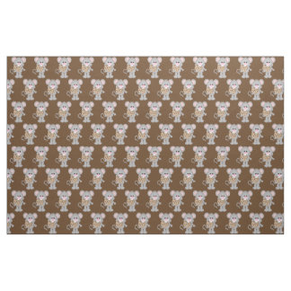 Chocolate chip cookie mouse combed cotton material fabric