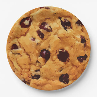 Chocolate Chip Cookie Paper Plate