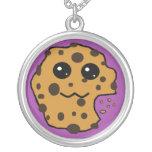 Chocolate chip cookie purple jewelry