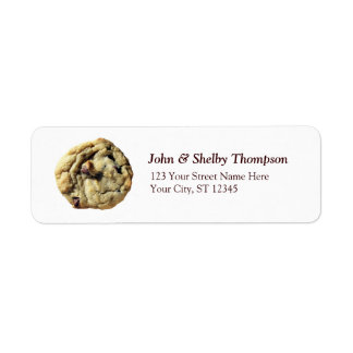 Chocolate Chip Cookie Return Address Label