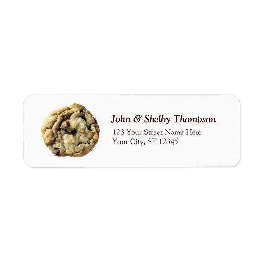 Chocolate Chip Cookie Return Address Label