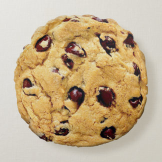 Chocolate Chip Cookie Round Cushion
