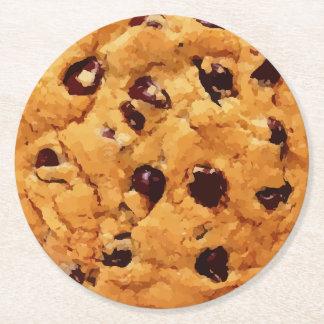 Chocolate Chip Cookie Round Paper Coaster