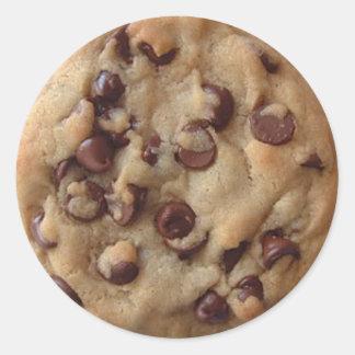 Chocolate Chip Cookie Round Sticker