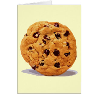 CHOCOLATE CHIP COOKIE TREAT DESSERT SNACK DIGITAL CARD