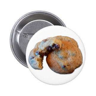 Chocolate Chip Cookie w white background Button