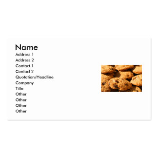 Chocolate Chip Cookies Business Card
