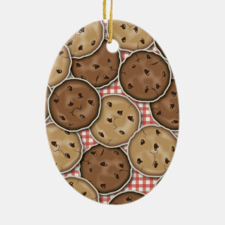 Chocolate Chip Cookies Ceramic Oval Decoration