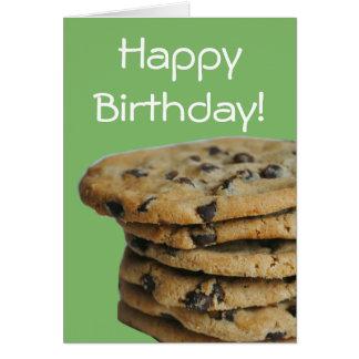 Chocolate Chip Cookies Happy Birthday Card