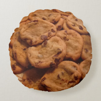 Chocolate Chip Cookies Pillow Round Pillow