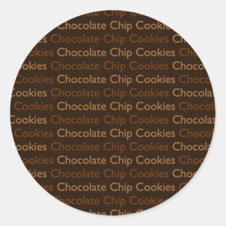 Chocolate Chip Cookies Round Sticker