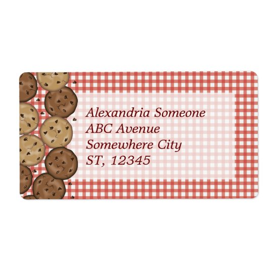 Chocolate Chip Cookies Shipping Label