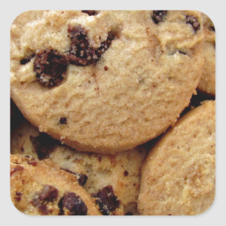 Chocolate Chip Cookies Square Sticker