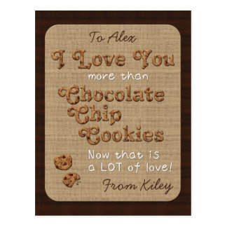 Chocolate Chip Crispy Yummy Cookies Golden Brown Postcard
