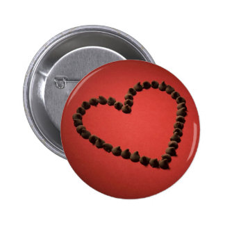Chocolate Chip Love Valentine s Day Heart Buttons