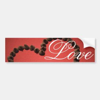 Chocolate Chip Love Valentine's Day Heart Bumper Sticker