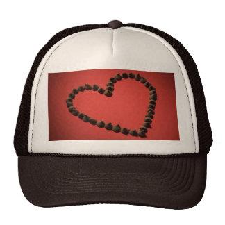Chocolate Chip Love Valentine's Day Heart Mesh Hat