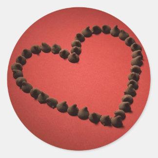 Chocolate Chip Love Valentine's Day Heart Sticker