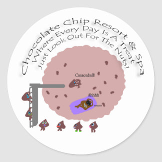 Chocolate Chip Resort & Spa Round Sticker