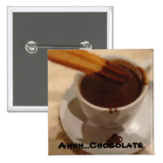 Chocolate Churros Pinback Buttons