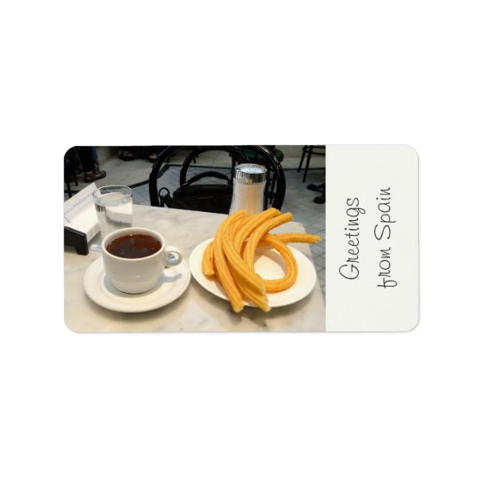 chocolate con churros address label