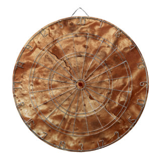 Chocolate cover of a cake dartboard