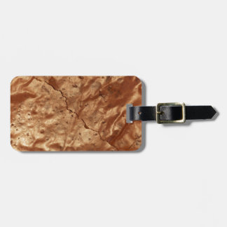 Chocolate cover of a cake luggage tag