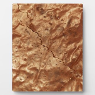 Chocolate cover of a cake plaque